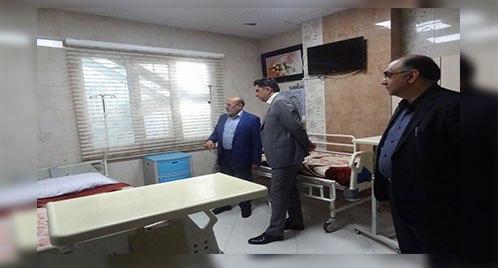 بازدید جناب آقای دکتر جبارنیا از بیمارستان مریم