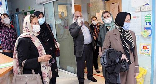 بازدید اعضای انجمن پزشکی متخصص زنان و زایمان استان از بیمارستان مریم
